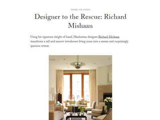 "Dering Hall, November 22: ""Designer to the Rescue: Richard Mishaan"""