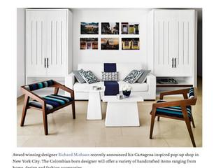 "Cottages & Gardens, June 2018:  ""Richard Mishaan's Cartagena Inspired Pop-Up Shop"""