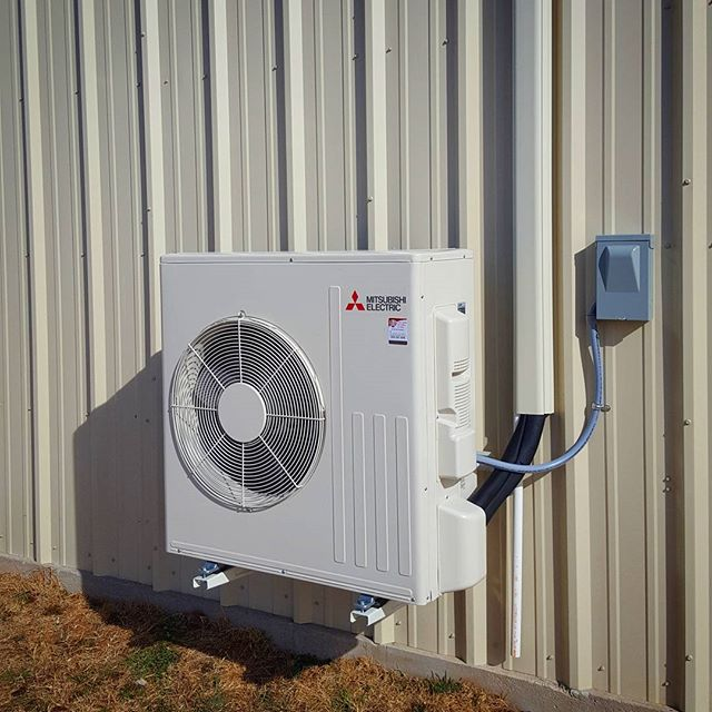 New 2-Ton Mitsubishi wall mounted ductless heat pump. 20.5 SEER, 13.5 SEE, and 10 HSPF efficient