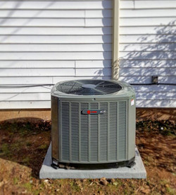 New 3 ton Trane XR14 SEER heat pump for a house that's never had central heating and cooling. 14 SEE