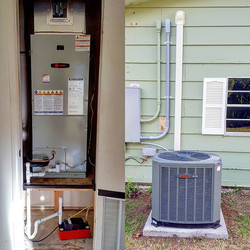 New complete 2 ton heat pump system with all new ductwork. We also added an  AirScubber Plus for add