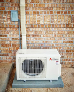 A new Mitsubishi 9k BTU ductless heat pump just completed._24.6 SEER, 15.4 EER, and 12