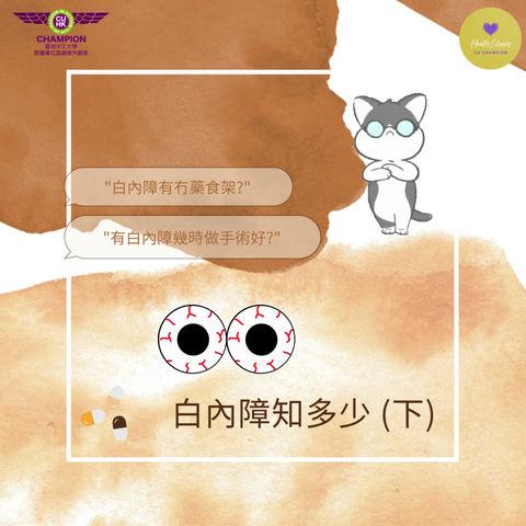 Cataract 101 白內障知多少 (下)