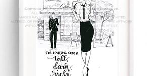 Tall, Dark, Rich Cup Of Coffee | Fashion Illustration