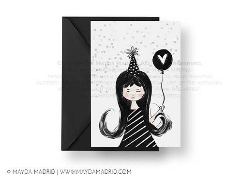 Celebrate - Happy Birthday - Card , Spread Love with Greeting Cards, Girl Birthd