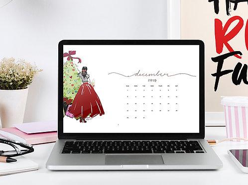 December 2019 Desktop Wallpaper Calendar