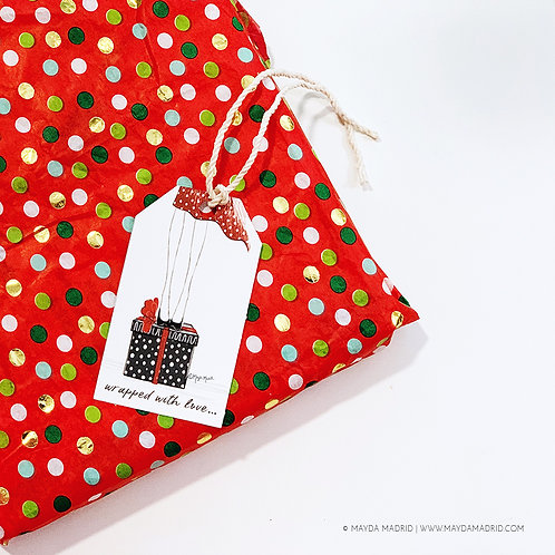 Wrapped With Love | Gift Tags |Birthday | Holidays