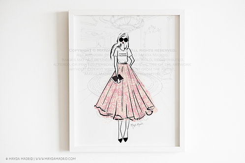 Reading In Style | Fashion Illustration | All Booked | Bookish Art Print