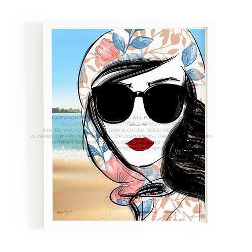 Scenic Route Fashion Art Print