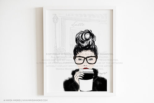 Latte | Fashion Illustration | Art Print