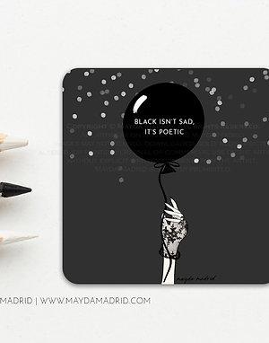 Black is Poetic | Vinyl Glossy Sticker