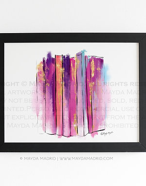 Abstract Colorful Books | Bookish Fine Art Print