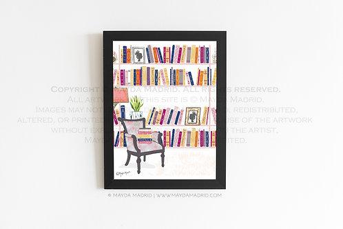My Cozy Library | Bookish Fine Art Print