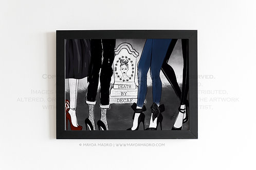 Death By Decaf | Spookish | Stylish Illustration Fine Art P