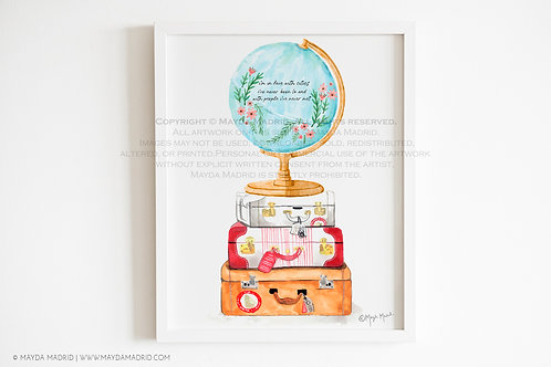 Watercolor In Love With Cities | Travel The World | Art Prints | Bookish Art
