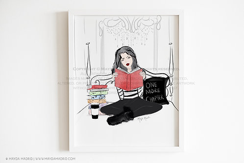 One More Chapter | Bookish Art Print