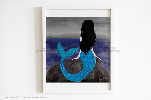Wishful Mermaid | Fashion Illustration | Fine Art Print