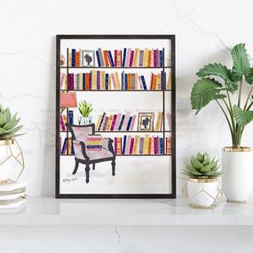 My Cozy Library-Dark Library- Mayda Madr