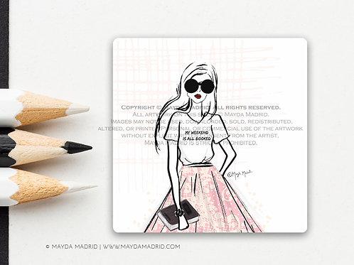 All Booked | Vinyl Matte Sticker