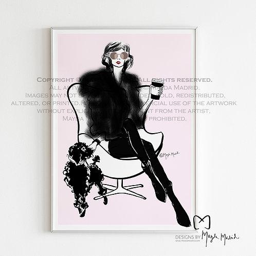 Pet Love- Fashion Illustration Wall Art