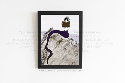 Medusa's Book Life  | Spookish | Stylish Illustration Fine Art Prin