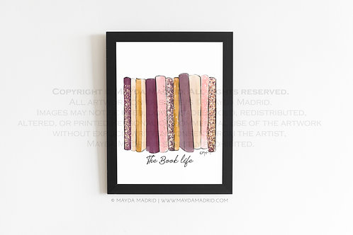Colorful Books   Purples and Pinks   Bookish Fine Art Print