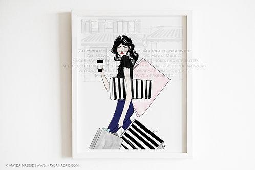 Book-aholic | Fashion Illustration | Art Print
