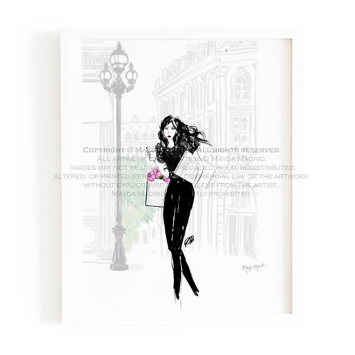 Confidence Fashion Art Print