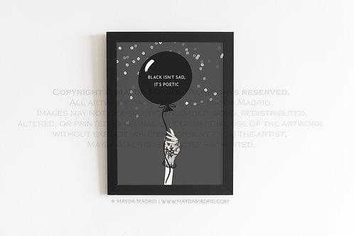 Black is Poetic | Stylish Illustration Fine Art Print