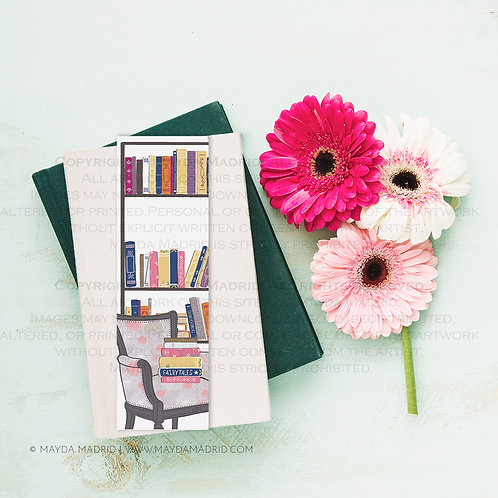 My Little Library Bookmark | Bookish Art