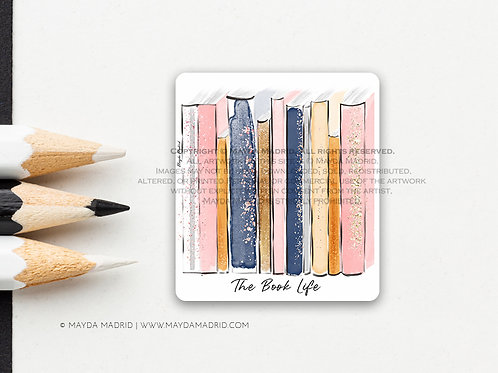 The Book Life | Vinyl Matte Sticker