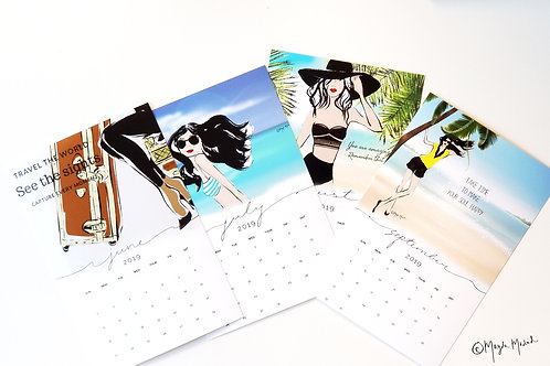 Illustrated Calendars - September-December 2019 | Fashion | Style