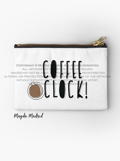 Coffee O'clock Cosmetic Pouch