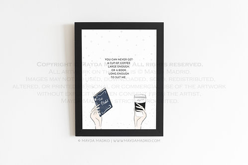 Coffee and a Good Book | Bookish Illustration Print