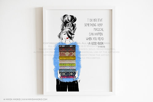 SomeThing Very Magical- Bookish Art Print