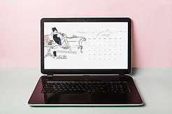 July Desktop Calendar 2020-Laptop-Mayda