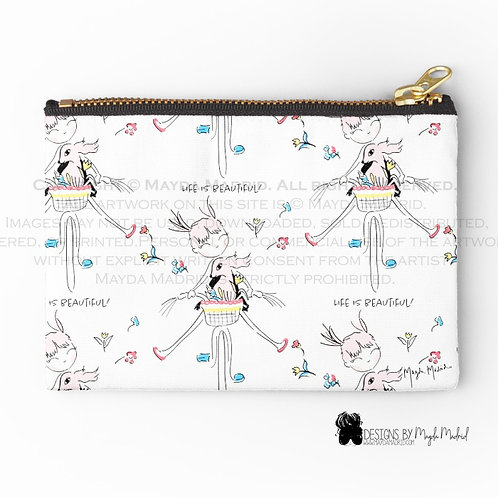 Life is beautiful Cosmetic Pouch