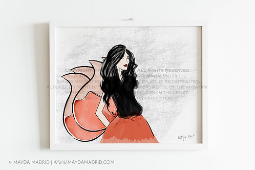 Nine Tailed Fox | Fashion Illustration | Art Print