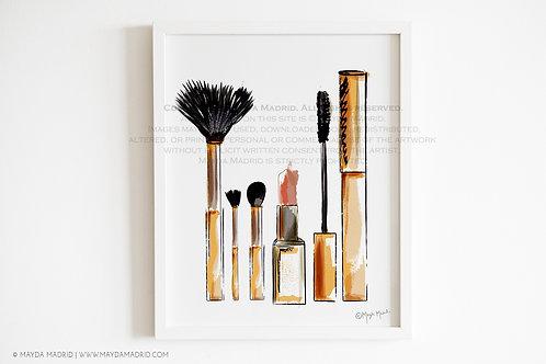 Make Up In Love | Watercolor Art Print | Fashion Art