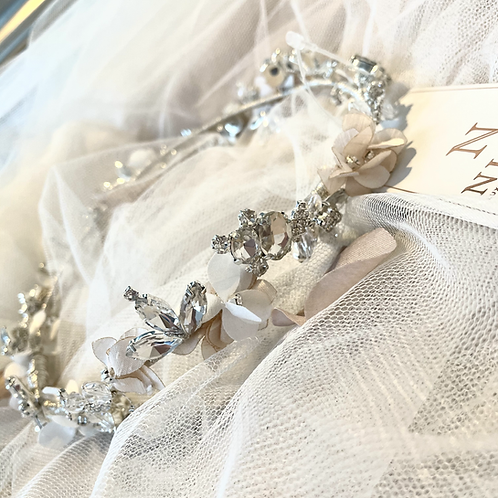 Nieve Couture Floral circlet crown