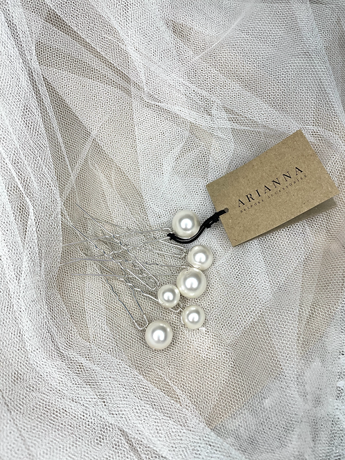 Purity Pearl Hairpins