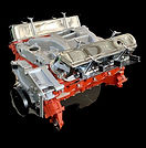 chrome hot rod v8 engine.
