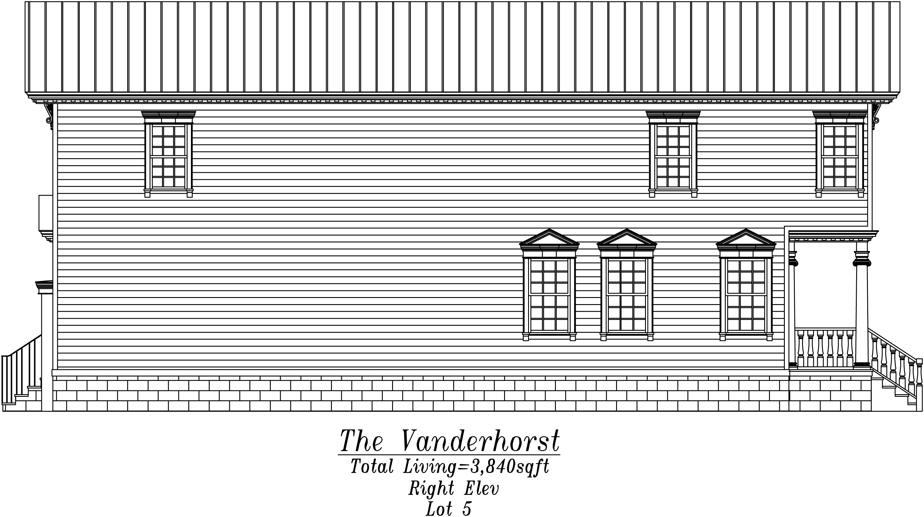 Vanderhorst Right Elevation