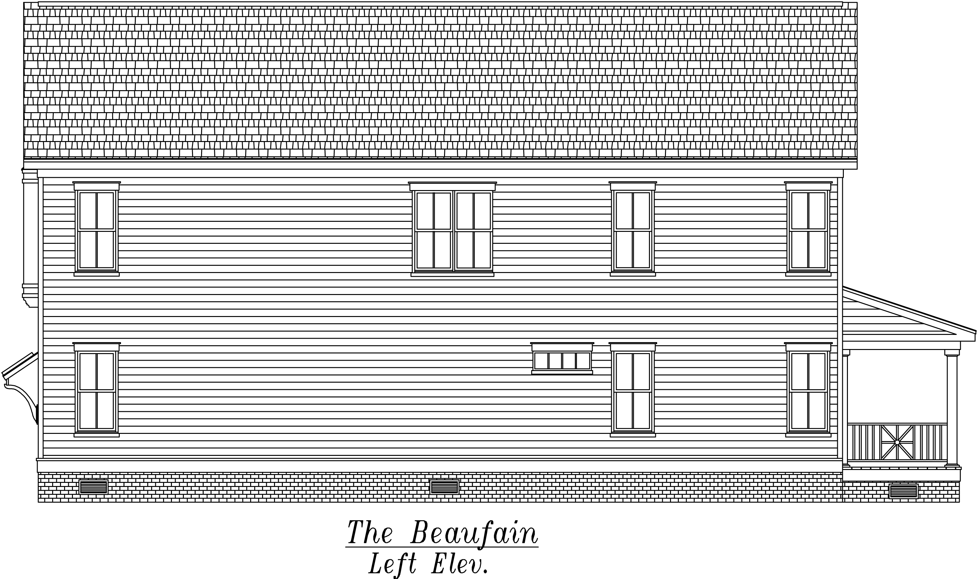 Beaufain Left Elevation