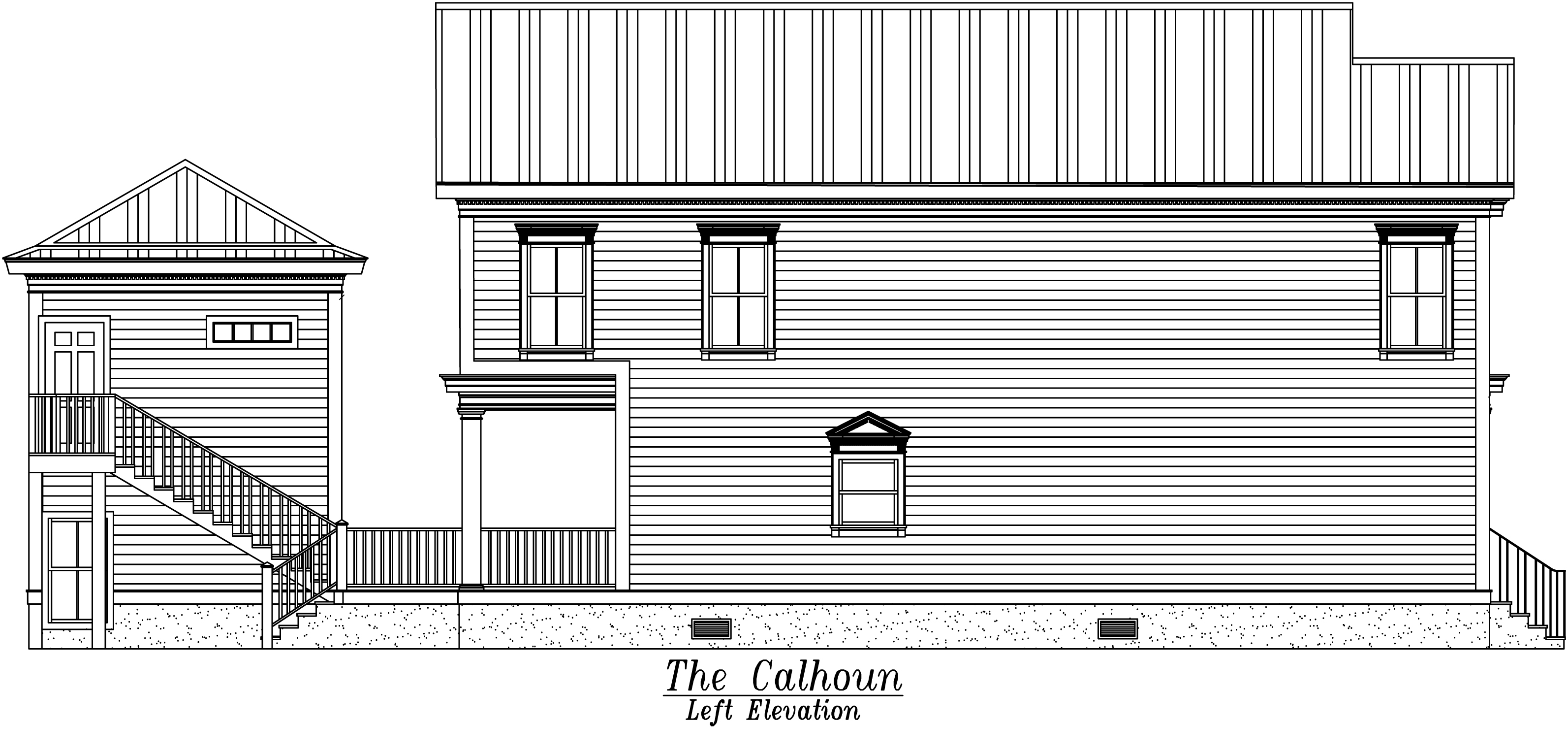 Calhoun Left Elevation