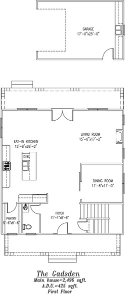 Gadsden First Floor Plan