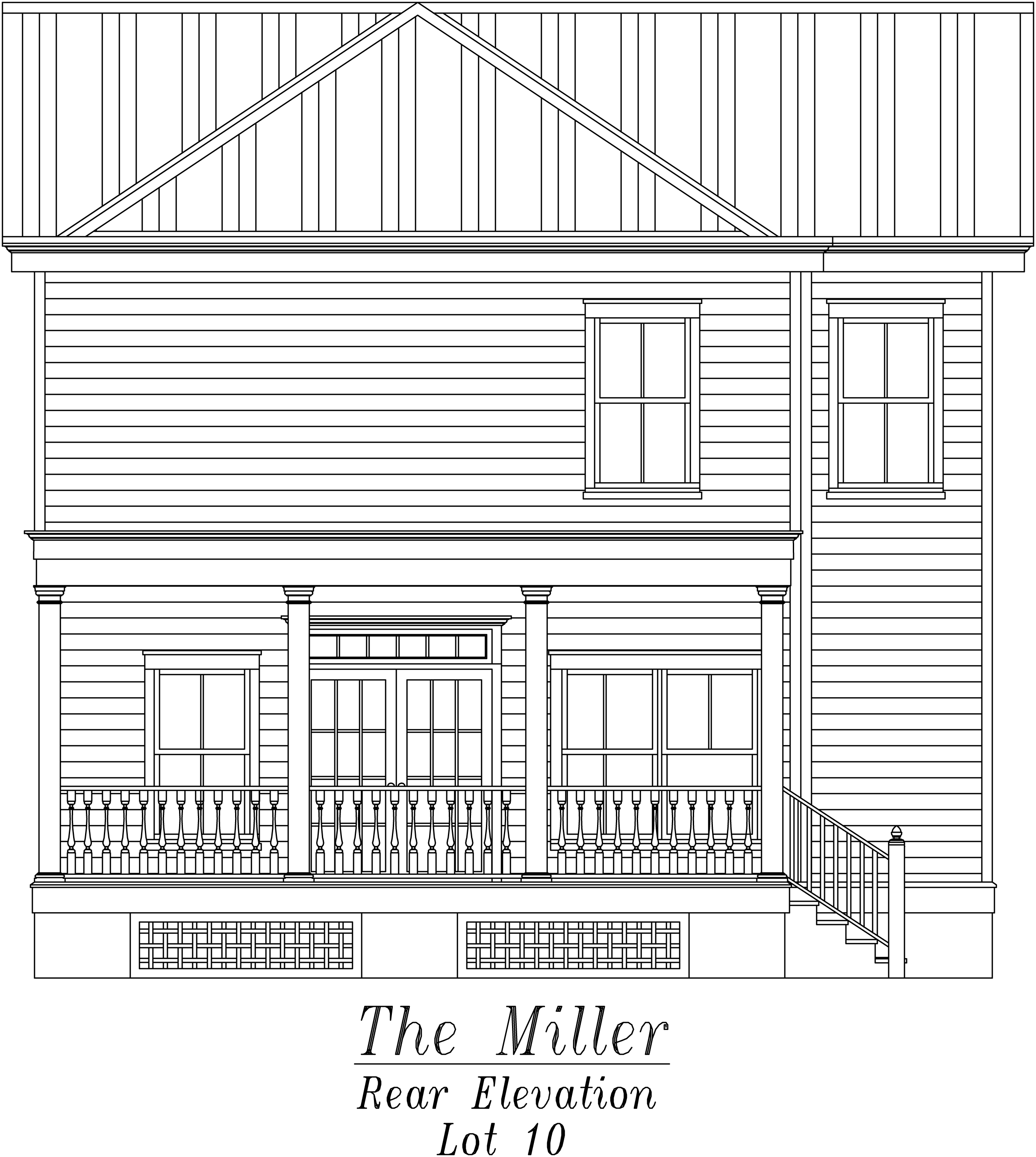 Miller Rear Elevation