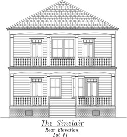 Sinclair Rear Elevation
