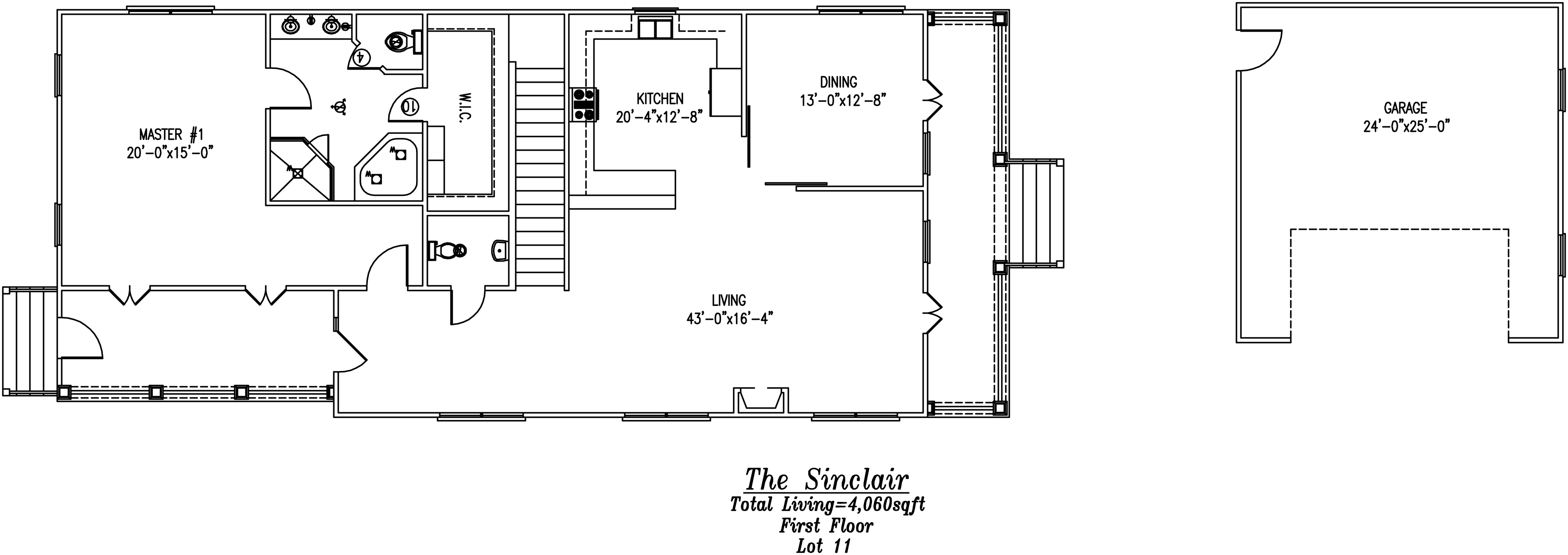 Sinclair First Floor Plan