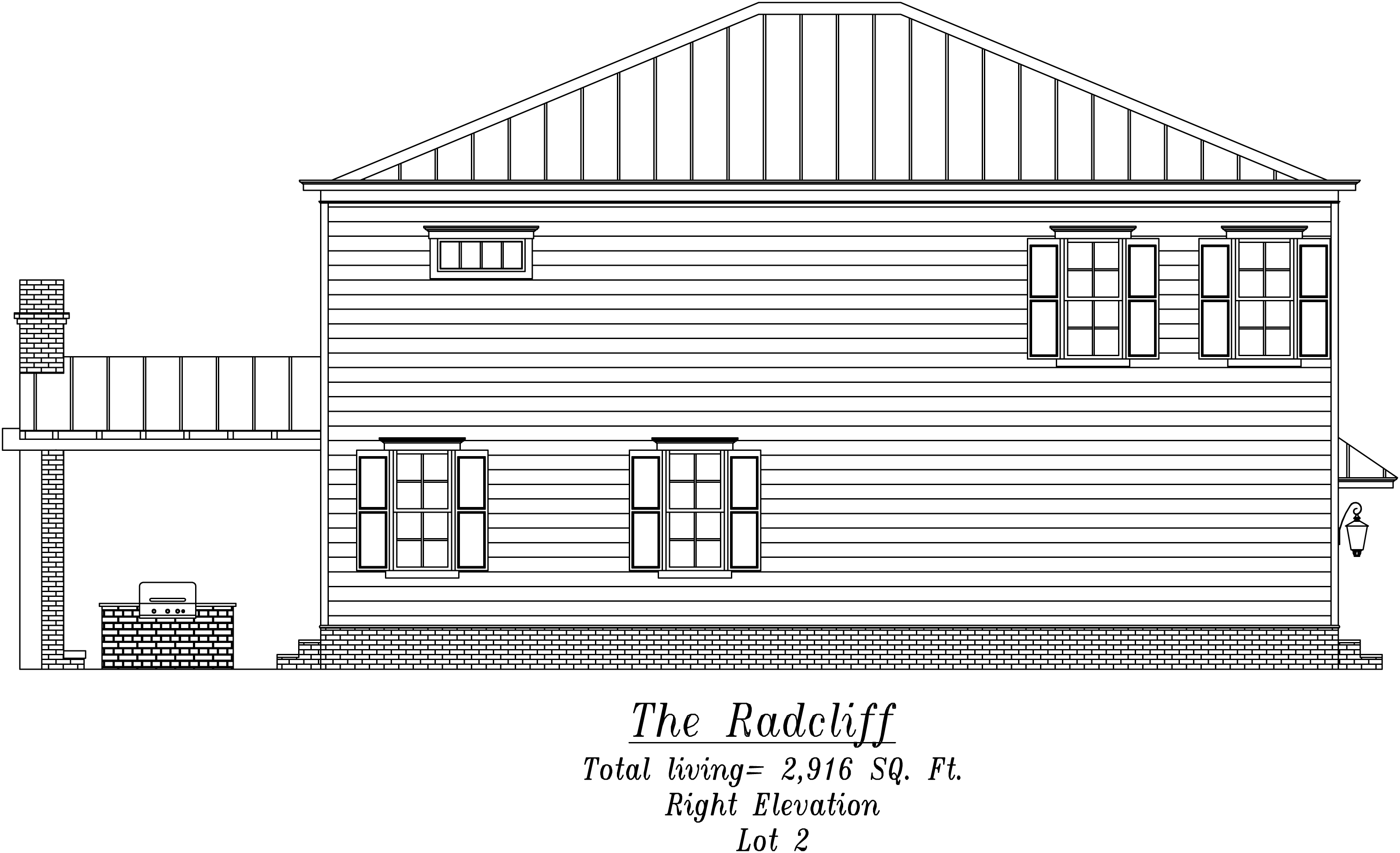 Radcliff Right Elevation